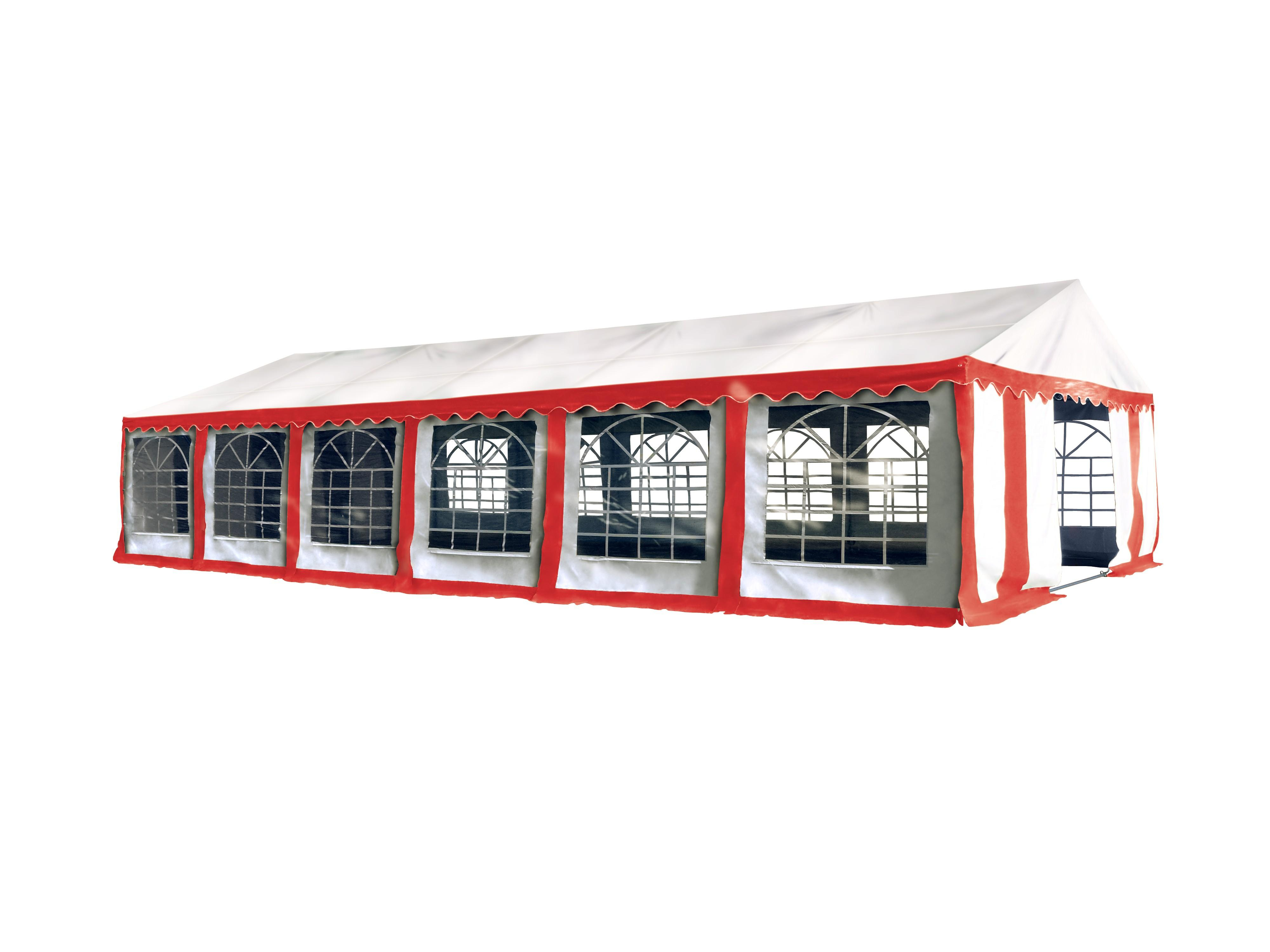 Hawaj Párty stan Economy 6 x 12 m červeno-bílý