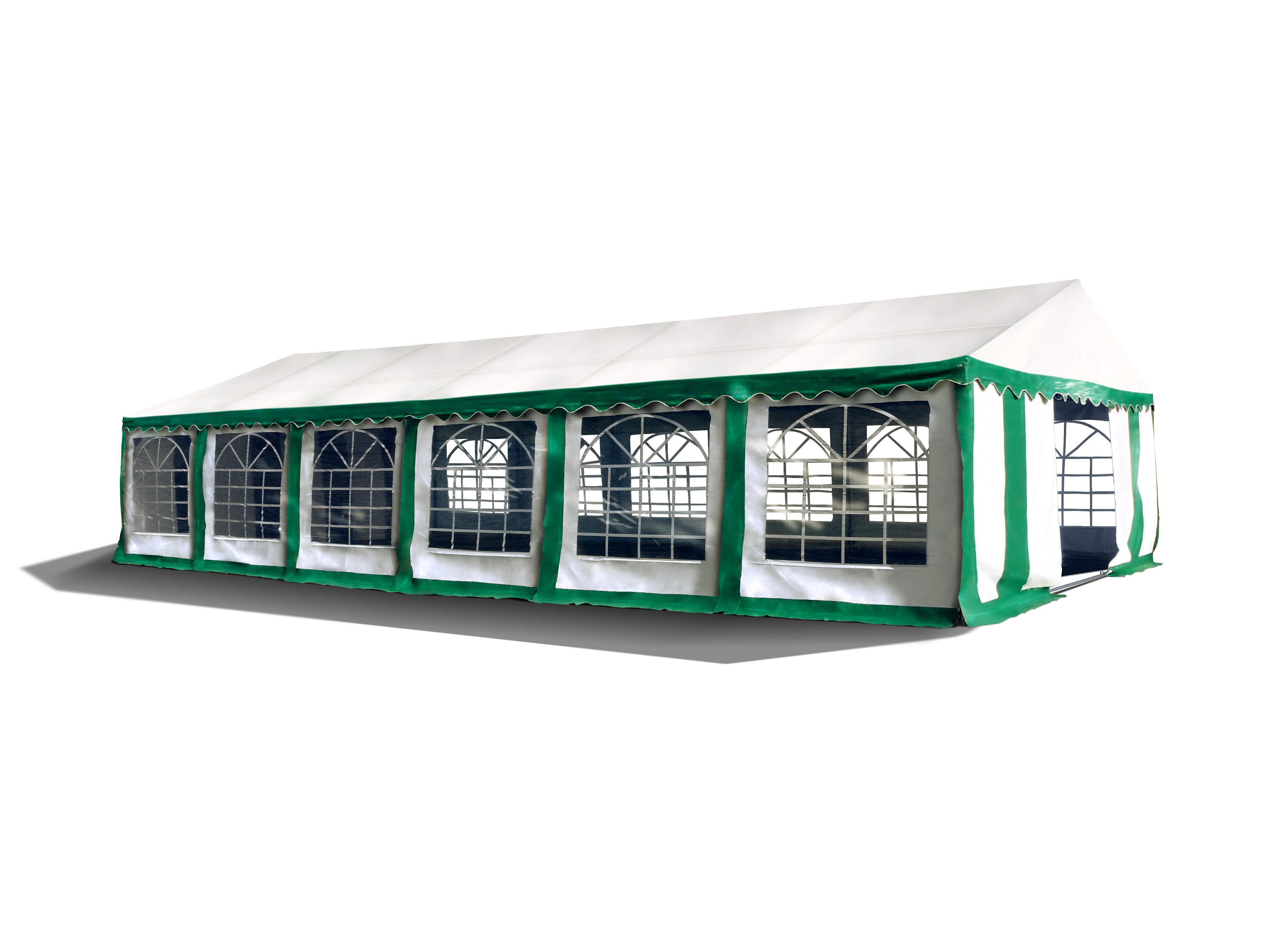 Hawaj Párty stan Premium Ohnivzdorný 6 x 12 m zeleno-bílý