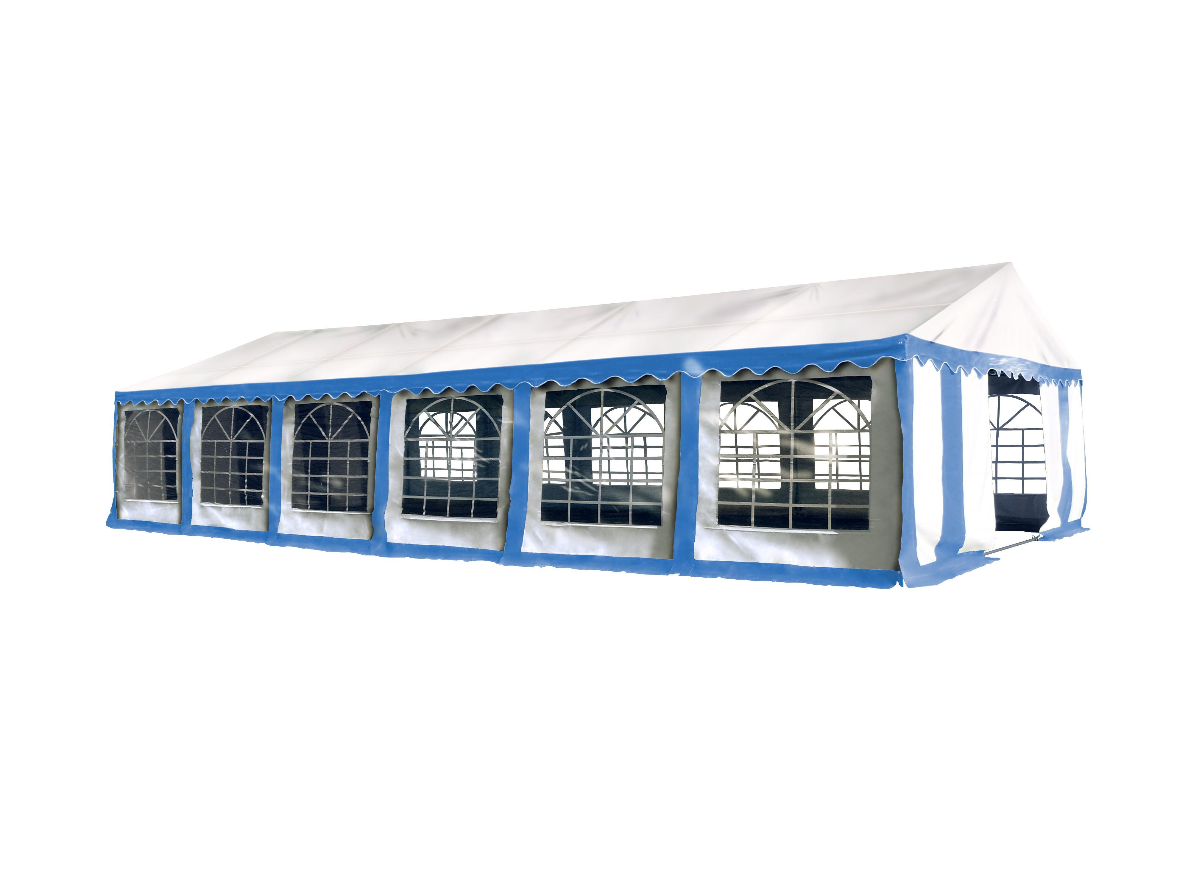 Hawaj Párty stan Premium Ohnivzdorný 6 x 12 m modro-bílý