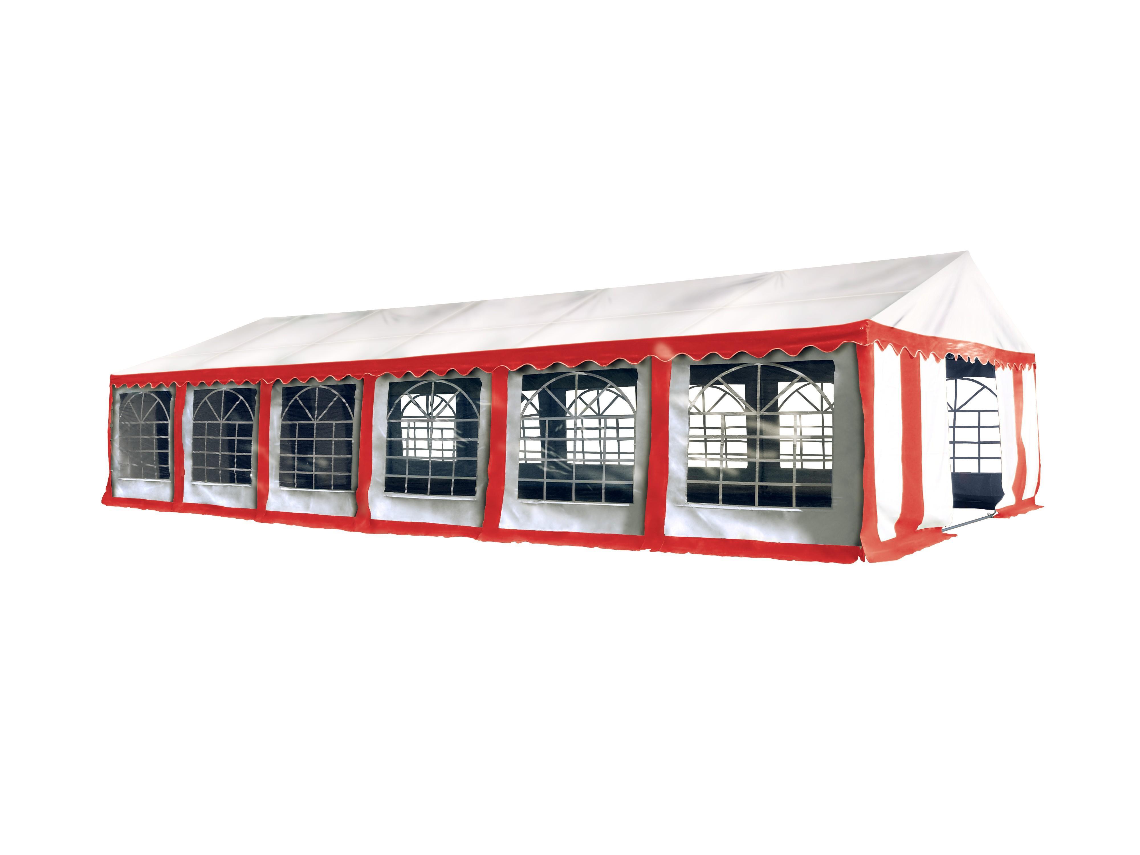 Hawaj Párty stan Premium Ohnivzdorný 6 x 12 m červeno-bílý