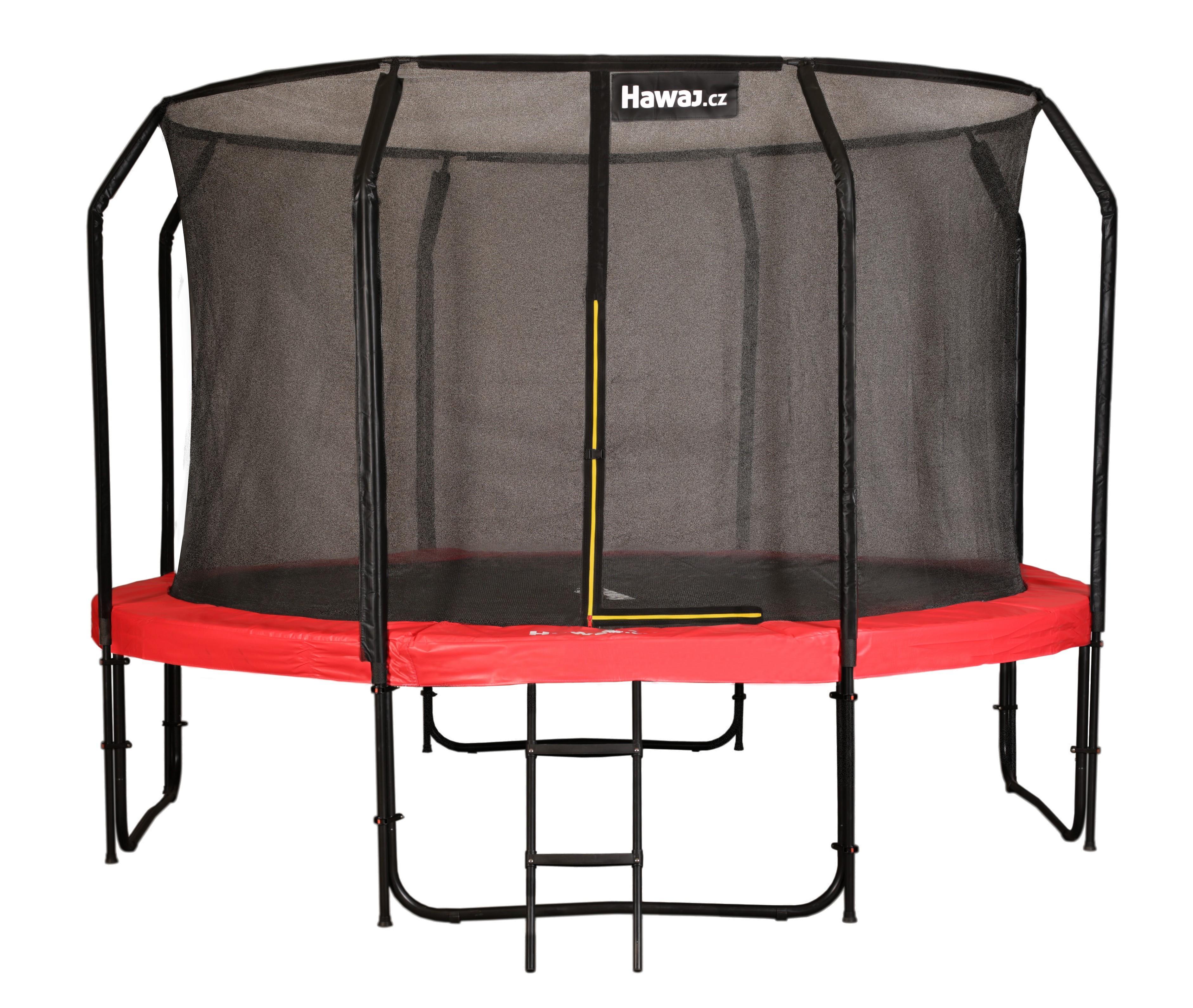 Levně Trampolína Hawaj Premium 305 cm + vnitřní ochranná sít + schůdky